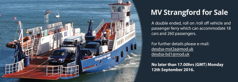 Promotion: MV Strangford