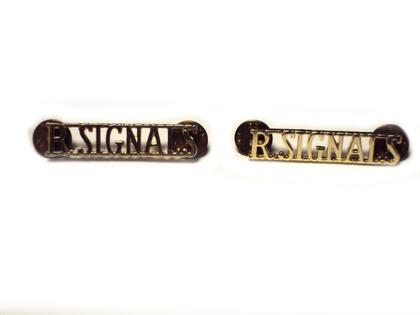 Royal Signals Collar Badges