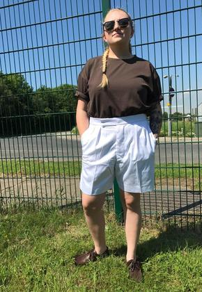 Women's White Shorts