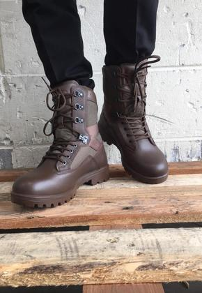 Brown Men's Military Combat Boots YDS