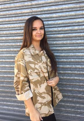 Sequin Detail Camo Shirt