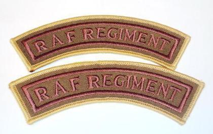 Royal Air Force Regiment Patch - Brand New - 1 Pair