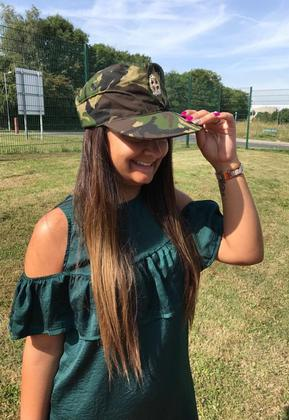 Women's Green Camo Hat Cap