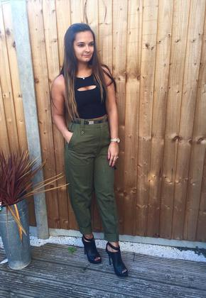 Women's Military Green Trousers