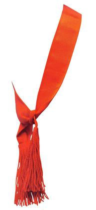 Ceremonial Red Scarlet Shoulder Sash - Grade 1