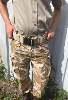 Men's Sand Army Belt