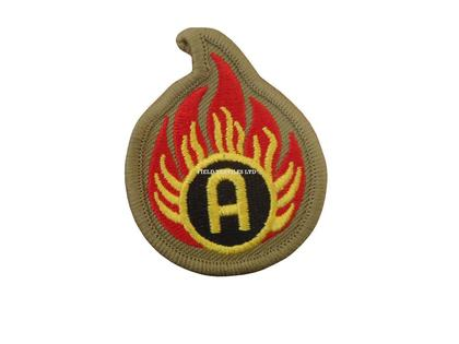 Ammunition Technician Badge/Patch - Khaki/Flame/A - Brand New - 1 Pair