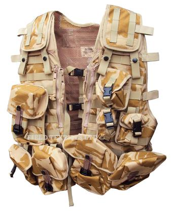 British Army Desert Tactical Load Carrying Vest