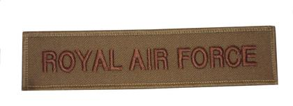 RAF Royal Air Force Patch Khaki/Brown
