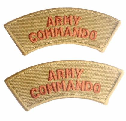 Army Commando Shoulder Patches - Brand New - 1 Pair