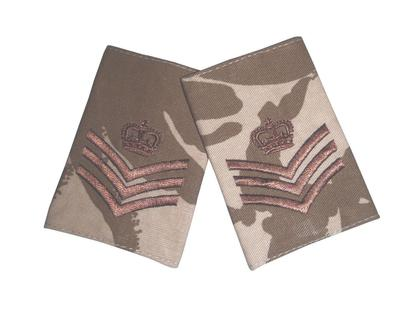 Staff Sergeant Rank Slide - Desert - 1 Pair - New