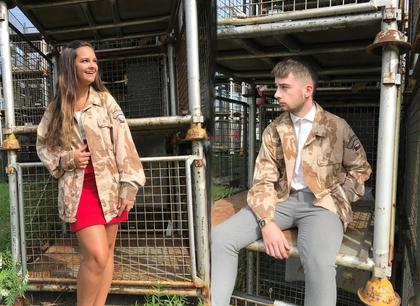 Unisex Tan Camo Casual Shirt