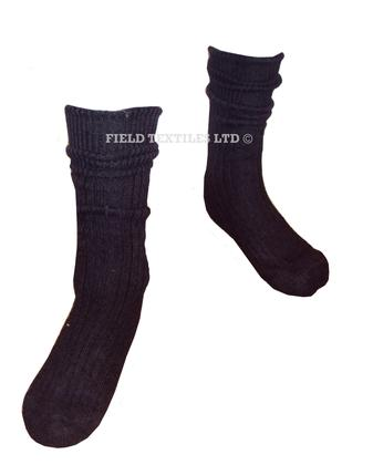 Black Wool Combat Socks - Grade 1